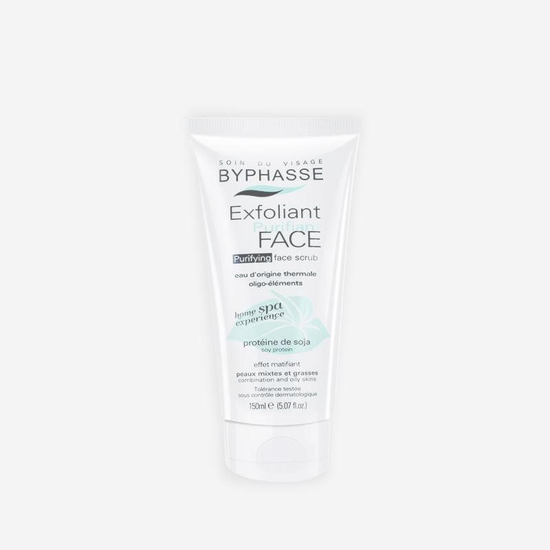 Byphasse Kem tẩy tế bào chết cho da dầu và hỗn hợp Exfoliant Purifying Face Scrub (trắng xanh) 150ml
