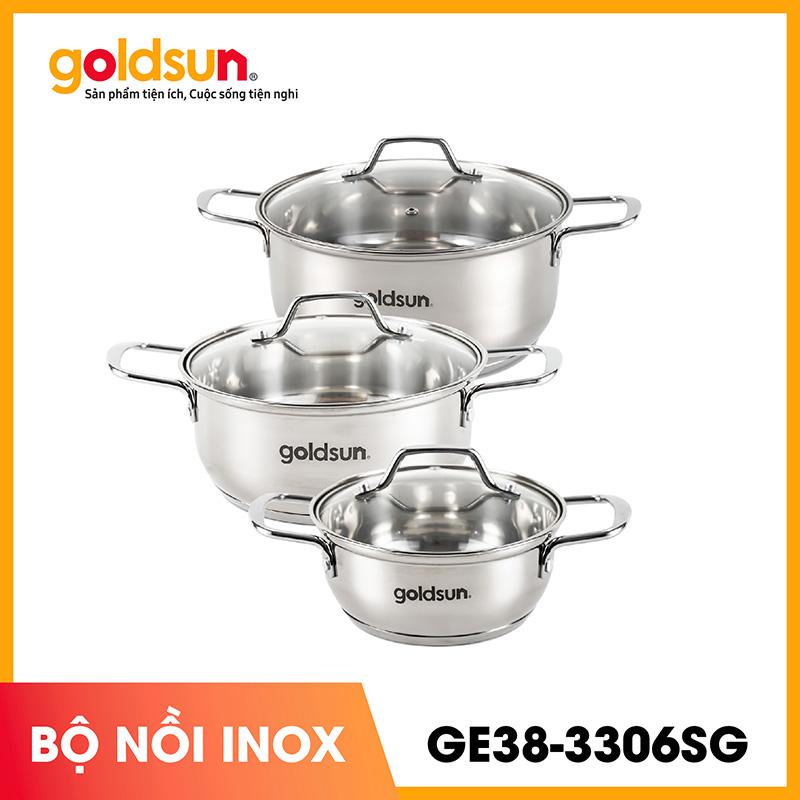 Goldsun Bộ nồi inox GE38-3306SG