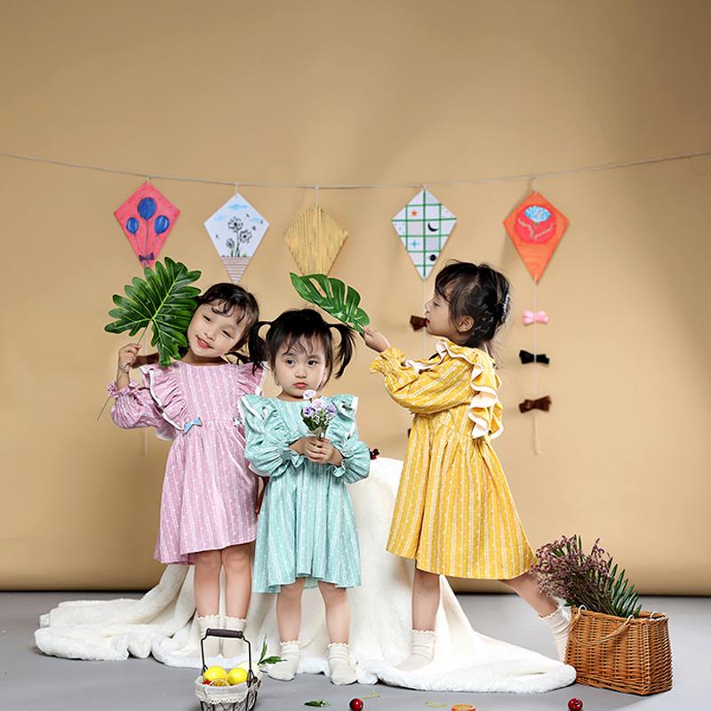 Saii Studio Váy bèo phối vai trắng, tay chun – Xanh