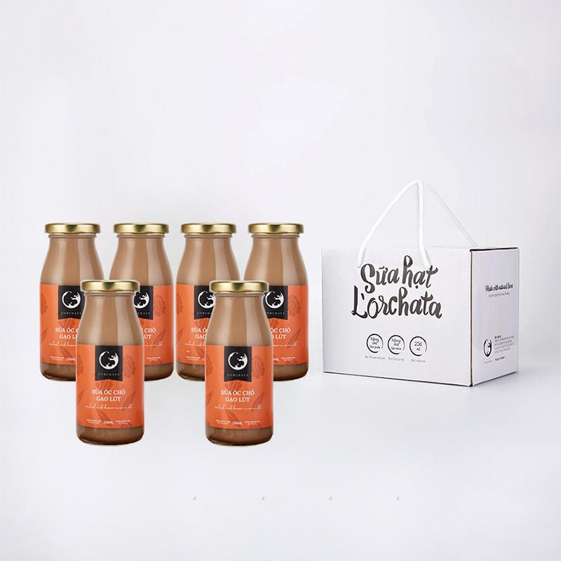 L'ORCHATA Hộp 6 chai Sữa hạt nguyên chất có 5 vị