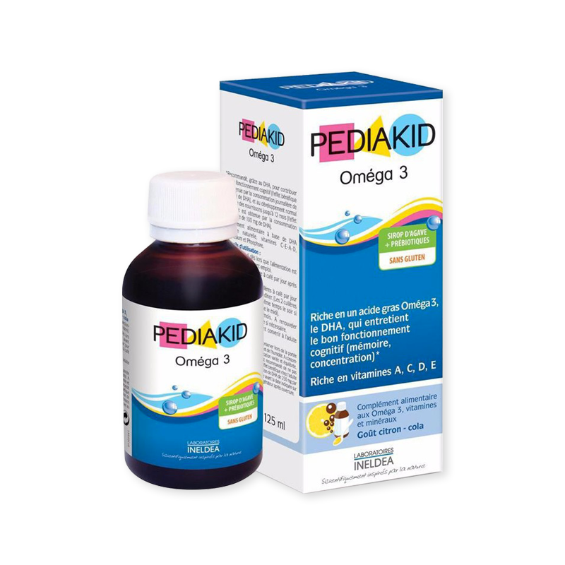 Pediakid Bổ sung Omega 3 và DHA cho bé từ 6 tháng tuổi Vitamin Omega 3 125ml